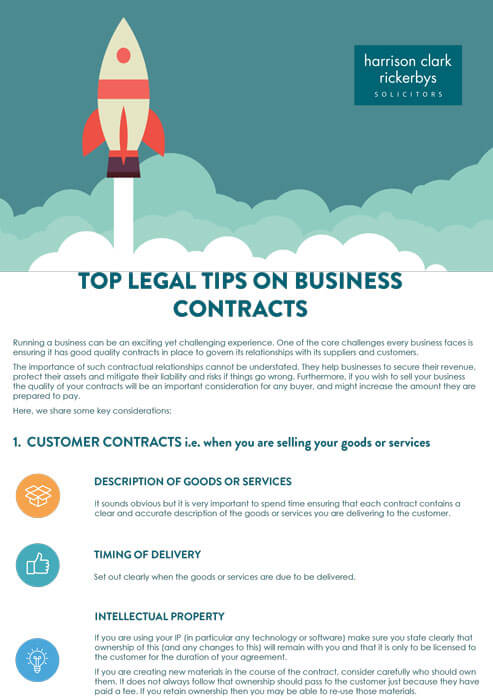 Top legal tips for business contracts